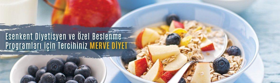 esenkent diyetisyen merve kalelioglu - Esenkent Diyetisyen ve Özel Beslenme Programları için Tercihiniz Merve Diyet