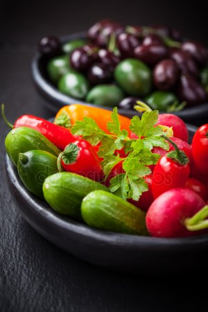 depositphotos 42680373 stock photo raw snack vegetable - Vejeteryan Beslenmesi